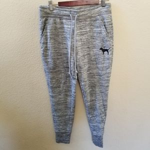 PINK Victoria's Secret Heathered Gray Joggers